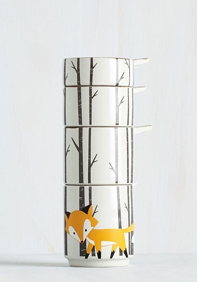Kitsch'n Glam Ceramic 4 Measuring Cup Set- Fox Theme