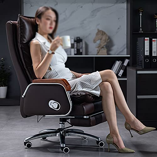 YDYBY Sedia Gaming Ergonomico Sedia Ufficio,con Poggiapiedi Sedia Scrivania Sedia direzionale Regolabile Schienale Cuscino Spesso Lombare Supporto Tavoli e sedie,Marrone