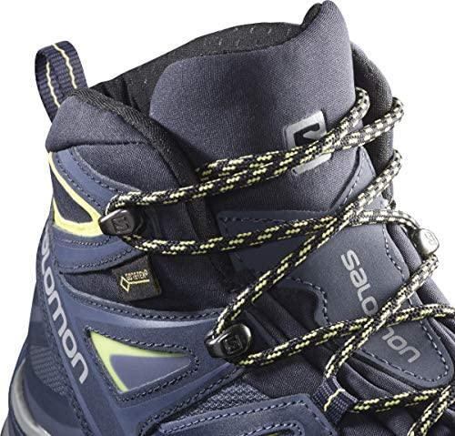Salomon Women s X Ultra 3 MID GTX W Hiking Crown Blue Evening Blue Sunny Lime 8 5 product image