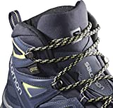 Salomon X Ultra 3 Mid GTX W, Zapatillas de Atletismo Mujer, Azul (Crown Blue/Evening Blue/Sunny Lime 000), 36 2/3 EU