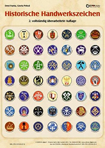 Historische Handwerkszeichen: Poster mit Beschreibung