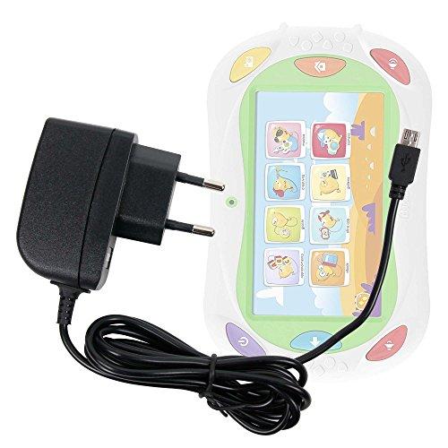 DURAGADGET Caricatore da Muro per Tablet Chicco App Toys Gioco Happy Tab 2017 Limited Edition | Alldaymall EU-A88K PRO-BE- Spina Europea E Connessione MicroUSB