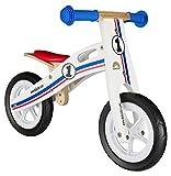BIKESTAR Bicicleta sin Pedales para niños y niñas | Bici Madera Pulgadas a Partir de 2-3 años | 10' Edición Sport Blanco, Azul, Rojo