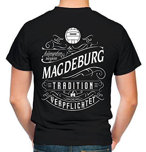 Mein Leben Magdeburg T-Shirt | Freizeit | Hobby | Sport | Sprüche | Fussball | Stadt | Männer | Herren | Fan | M1 FB (XL)