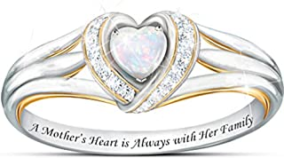 Jude Jewelers Silver Plated Heart Shaped Simulated Opal Ring