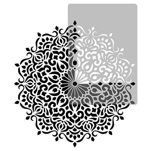 Wiederverwendbare Wandschablone aus Kunststoff // Durchmesser 120cm // Geometrisch - Mandala #3 - Blume // Muster Schablone Vorlage