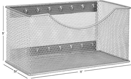 YBM HOME 2244vc Storage Basket, Silver