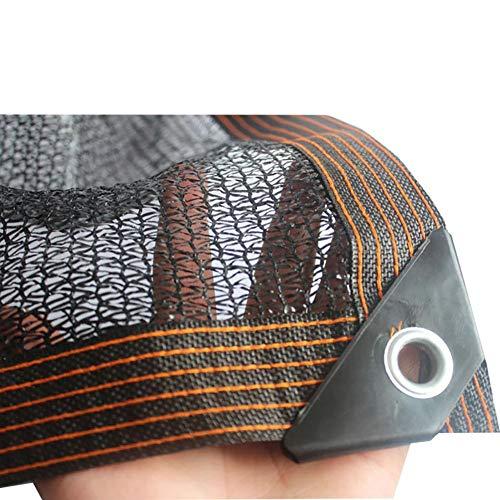 YXX-Filet d'ombrage 50% -60% Sunblock ombre Tissu avec Œillets - Idéal pour Jardin Patio, Plantes, Serre - noir, résistant aux UV, de refroidissement et de conservation de la chaleur (Size : 8mx8m)