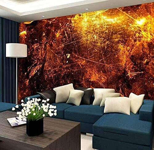 XHXI Paneles de pared tipo póster de papel tapiz dorado y plateado de metal cepillado Te3D 3D papel Pintado de pared tapiz Decoración dormitorio Fotomural-400cm×280cm