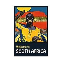 南アフリカへようこそ黒人ポスター壁アートルームの装飾Hdプリントモジュラー写真ポスター寝室のアートワークのためのキャンバス絵画60x80cmフレームなし
