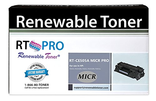 Renewable Toner PRO Compatible MICR Toner Cartridge Replacement for HP 05A CE505A for Laserjet P2035 P2055