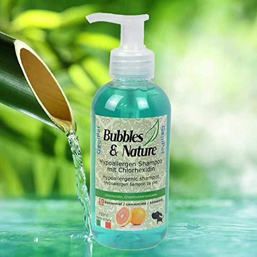 Bubbles & Nature Chlorhexidn Champú para perros – Champú hipoalergénico para perros