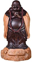 Ebony Wood Carving Maitreya Buddha Statue Decoration, Big Belly Laughing Buddha Solid Wood Carving, Mahogany Home Living R...