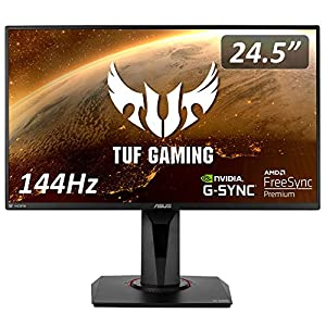"""ASUS TUF Gaming ゲーミングモニター VG259Q 24.5インチ フルHD IPS 144Hz 1ms HDMI×2 ポートDP Adaptive-s..."""""""