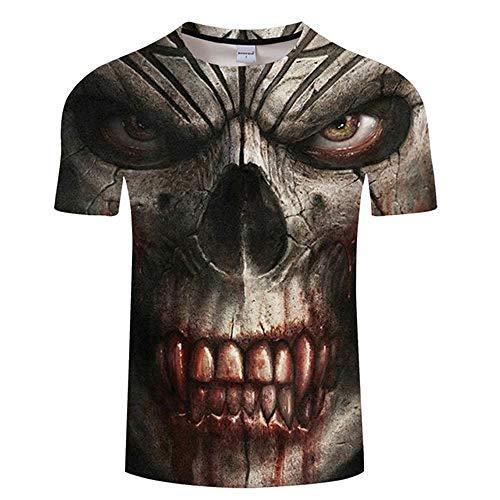 T Shirt Skull Men Tshirt 3D Print T Shirt Summer T-Shirt Casual Tops Shortsleeve Tee O-Neck Streetwear Asian5Xl Tx493