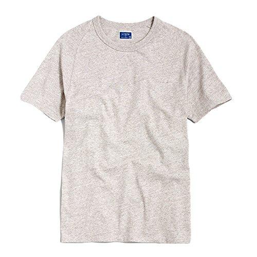 (ジェイクルー)J.Crew 半袖Tシャツ Slim Marled Cotton Tee ヘザー オートミール Heather Oatmeal (M) [並行輸入品]