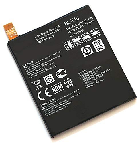 3.8V 3000mAh BL-T16 Batería de Repuesto para LG G Flex 2 Interno H950 H955A LS996 H959 H955 EAC62718201
