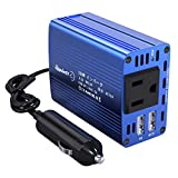 LEICESTERCN 150W Car Power Inverter DC 12V to 110V AC Outlet Car Converter with Dual USB Car Inverter Charger Adapter