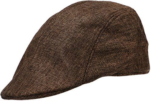 Wilhelm Sell® Klassische Flatcap im traditionellen Look - Schiebermütze mit Gummizug (01 Stück - Braun)
