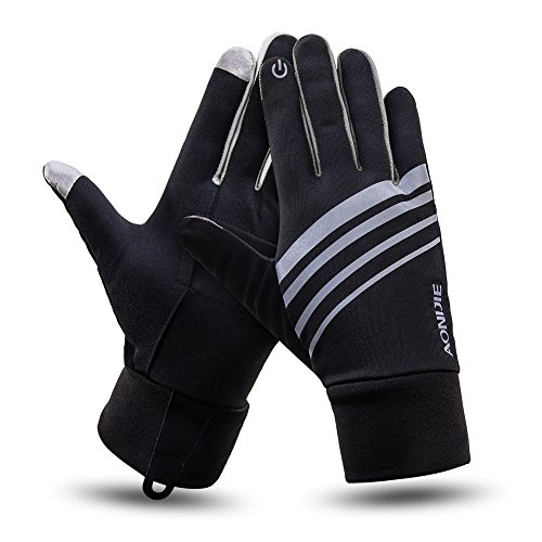 Touchscreen Running Gloves With Key Pouch Lightweight Thermal Thin Texting Gloves for Jogging Half Marathon Men Women