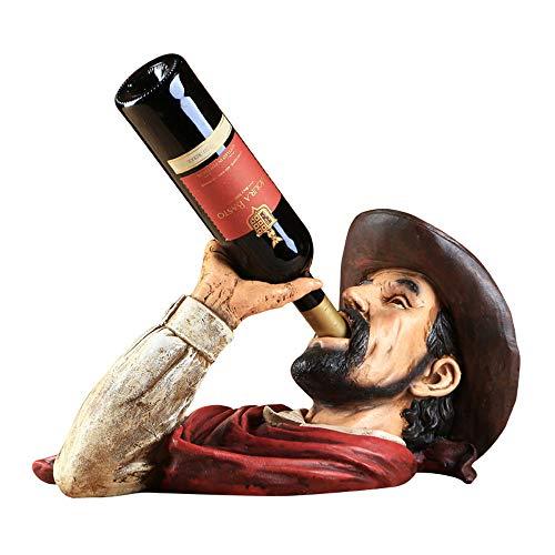 Cowboy Alkoholismus Weinregal, mittelalterlichen Retro-Stil Weinregal - Tabletop Weinregal - Weinregal Countertop - kleine Weinregal und Weinflaschenhalter - kreative Weinregal