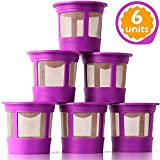 GoodCups 6 Reusable K Cups for Keurig K-Duo, K-Classic, K-Elite, K-Select, K-Cafe, K-Compact, K200, K300, K400, K500,...