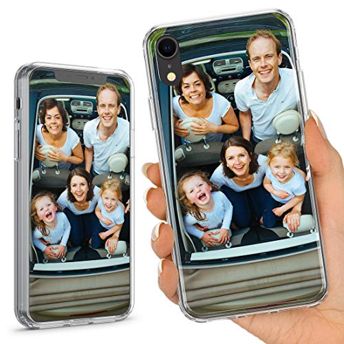 TULLUN Personalised Custom Photo Crystal Clear Hybrid Shockproof TPU Bumper & Hard Back Plate Phone Case Cover for iPhone Models - Your Own Photo - for iPhone 6 / 6s