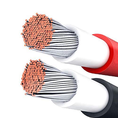 Plusenergy wccsolar Solarkabel 6 mm² 1500 V Rot und Schwarz, insgesamt 100 m, 50 m, rot, 50 m, schwarz, XLPE-Kabel 1500 V