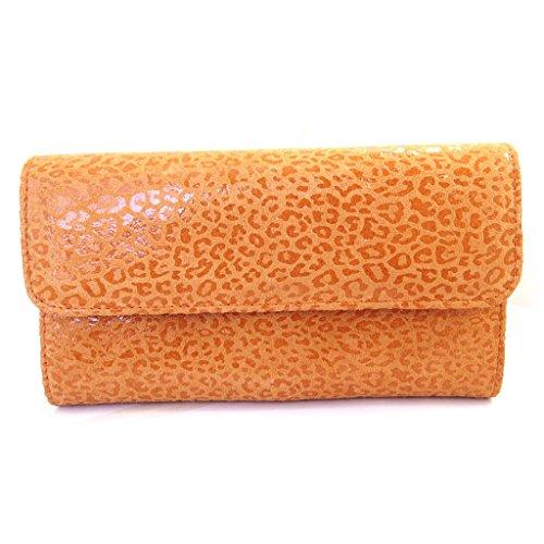 Compagno di pelle 'Frandi'arancione (leopard).