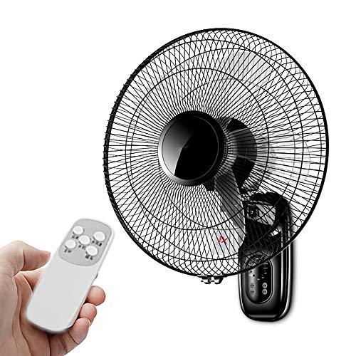 FDYZS Ventilador de pared oscilante de pared, 3 velocidades, 3 modos de viento con mando a distancia y temporizador de 7,5 h para escuelas, restaurantes, profesores y oficinas, control remoto
