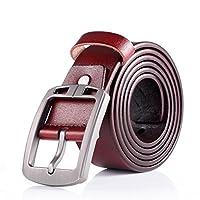 uxcell ベルト メンズ ピンバックル 調整可能 ビジネス カジュアル 幅3.8cm ブラウン 120cm