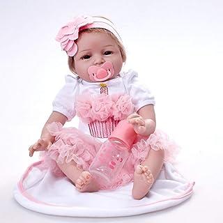 Lalka Rebirth Symulacja Baby Doll 55 cm Dziewczyna Zabawka dziecięca, 55 cm, Lalki Reborn