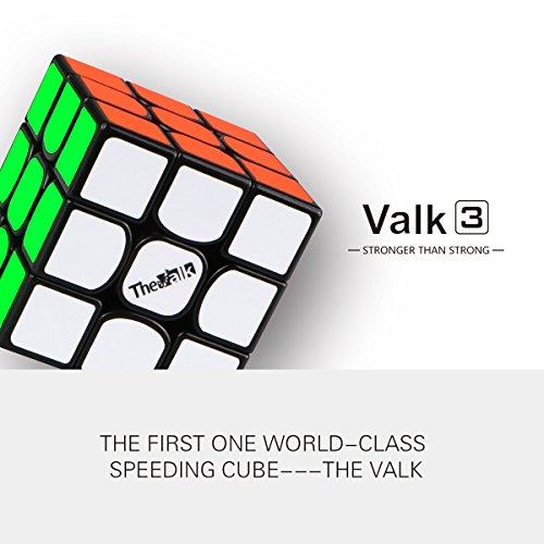 QIYI Cubo Mágico 3x3x3 | Cubo Mágico de Última Generación | Alta Velocidad de Rotación | Superficie Lisa | Material Resistente y no Tóxico para niños y Adultos (Negro)