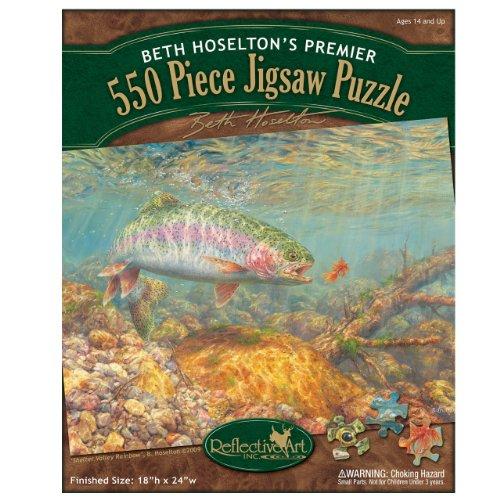 Reflective Art Shelter Valley Rainbow Jigsaw Puzzle, 550-Piece
