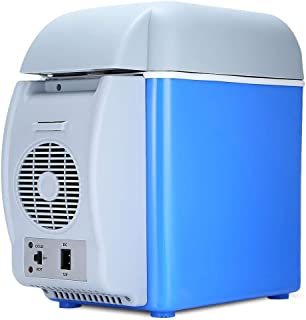 GOPINATH IMPERIA Mini Car Refrigerator 7.5 L 12 V Portable Electric Fridge Heater Freezer for Car, Camping, Travel, Road Trip