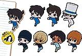 Rubber clip N BANDAI Detective Conan Pitakyu Gashapon 8 set clip capsule toys