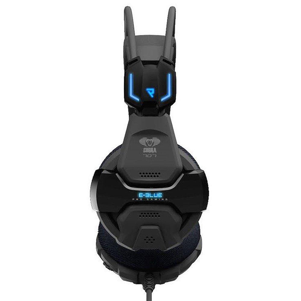 E 3lue Cobra 707 EHS016BK Casque Jeux vidéo Gaming Headset Surround 5.1 avec Microphone et télécommande pour Ordinateur Noir