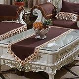 HJUNH para Mascotas Funda de sofá antisuciedad,1/2/3 Protector de sofá de Asiento, Cubierta de sofá de Alfombra de Seda de Hielo de Verano,-Color café_90 * 90 cm (35 * 35 Pulgadas)