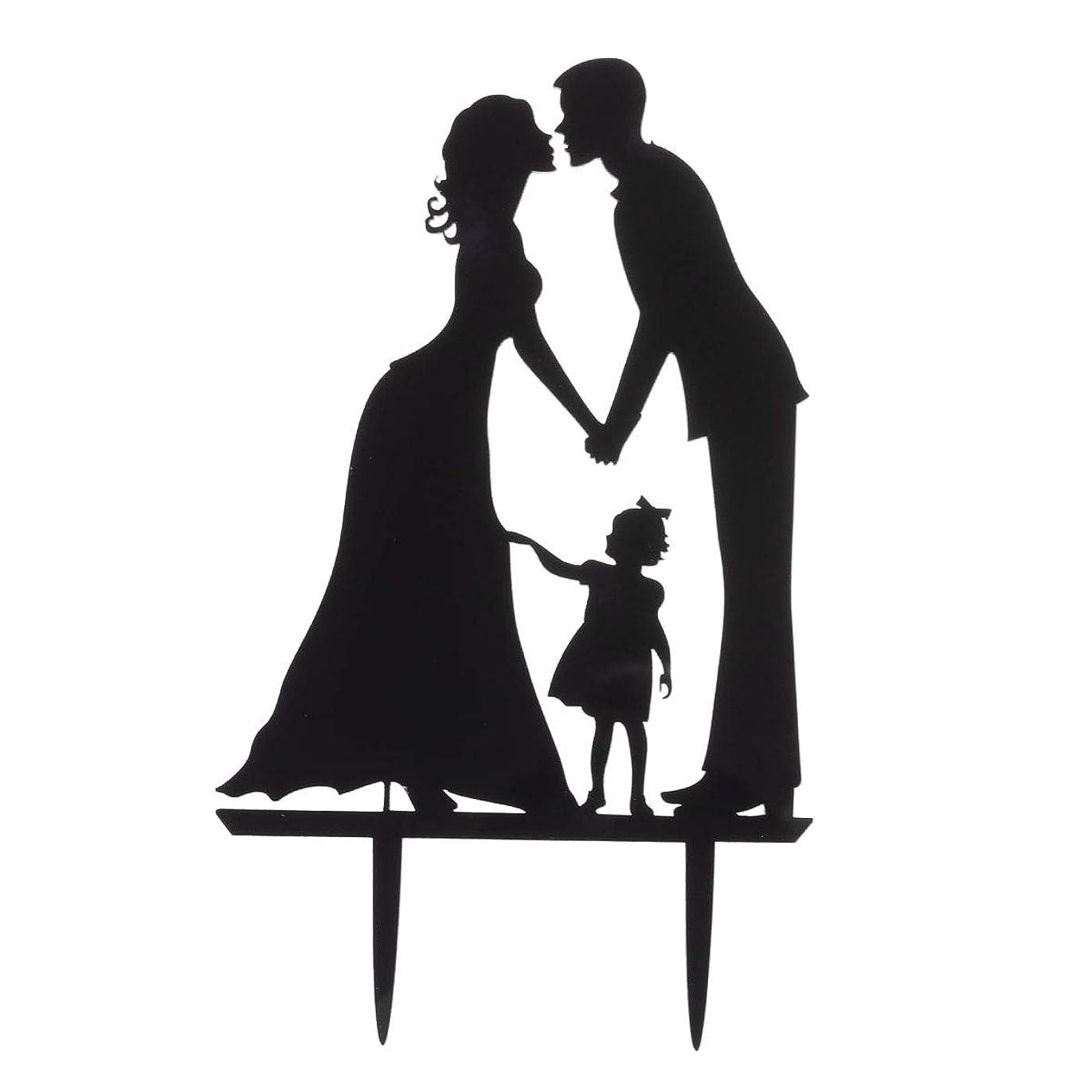 失礼なバッグメニューVosarea ウエディングケーキトッパー新郎新婦キス手をつないでアクリルカップルシルエット周年記念ケーキトッパー