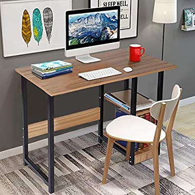 Amazon - Save 75%: US Stock Home Office Desk, Computer Desk Gaming Desk with 2 Storage Shelves,Sta…