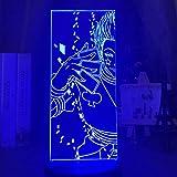 3D Night Lights for Kids LED 7 Colors Changing Touch Led Color Changing Nightlight Acrylic 3D Night Light for Kids Bedroom Decoration Light Anime Hunter X Hunter Hisoka Lamp Gift HUICH HOICHAN