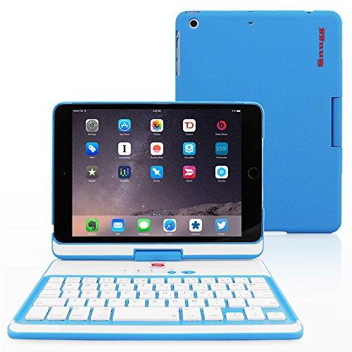 Snugg iPad Mini 5 / iPad Mini 4 Keyboard Backlit Wireless Bluetooth Keyboard Case Cover 360° Degree Rotatable Keyboard for Apple iPad Mini 5 - Black