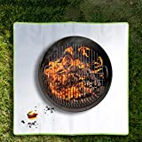 FMXYMC Alfombrilla de ascuas, Alfombrilla Cuadrada para fogatas, Alfombrilla Resistente al Fuego para Exteriores,19.69 * 31.50 inch/50 * 80cm