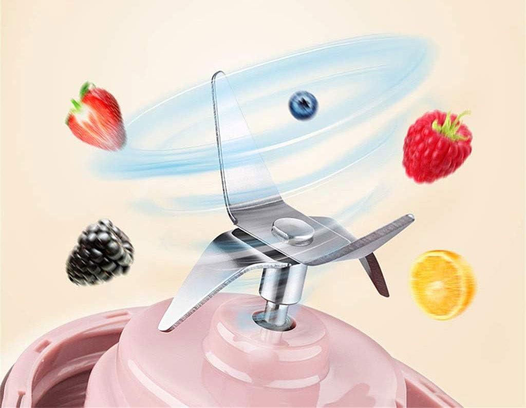 Jolly Juicer portátil de Frutas para el hogar pequeña Taza de Carga Mini (Color : Blanco) Rosado