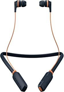 SkullCandy S2IKW-L681 Ink'D Bluetooth Wireless Earbuds With Microphone - Navy Orange