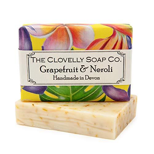 Clovelly Soap Co Natürliche handgemachte Seife Grapefruit & Neroli für alle Hauttypen 100g
