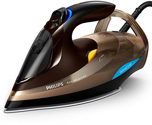 Philips gc4936/00 – Fer à repasser fer à repasser à vapeur SteamGlide Advanced, 2,5 m, 230 g/min, noir, marron, 55 g/min)