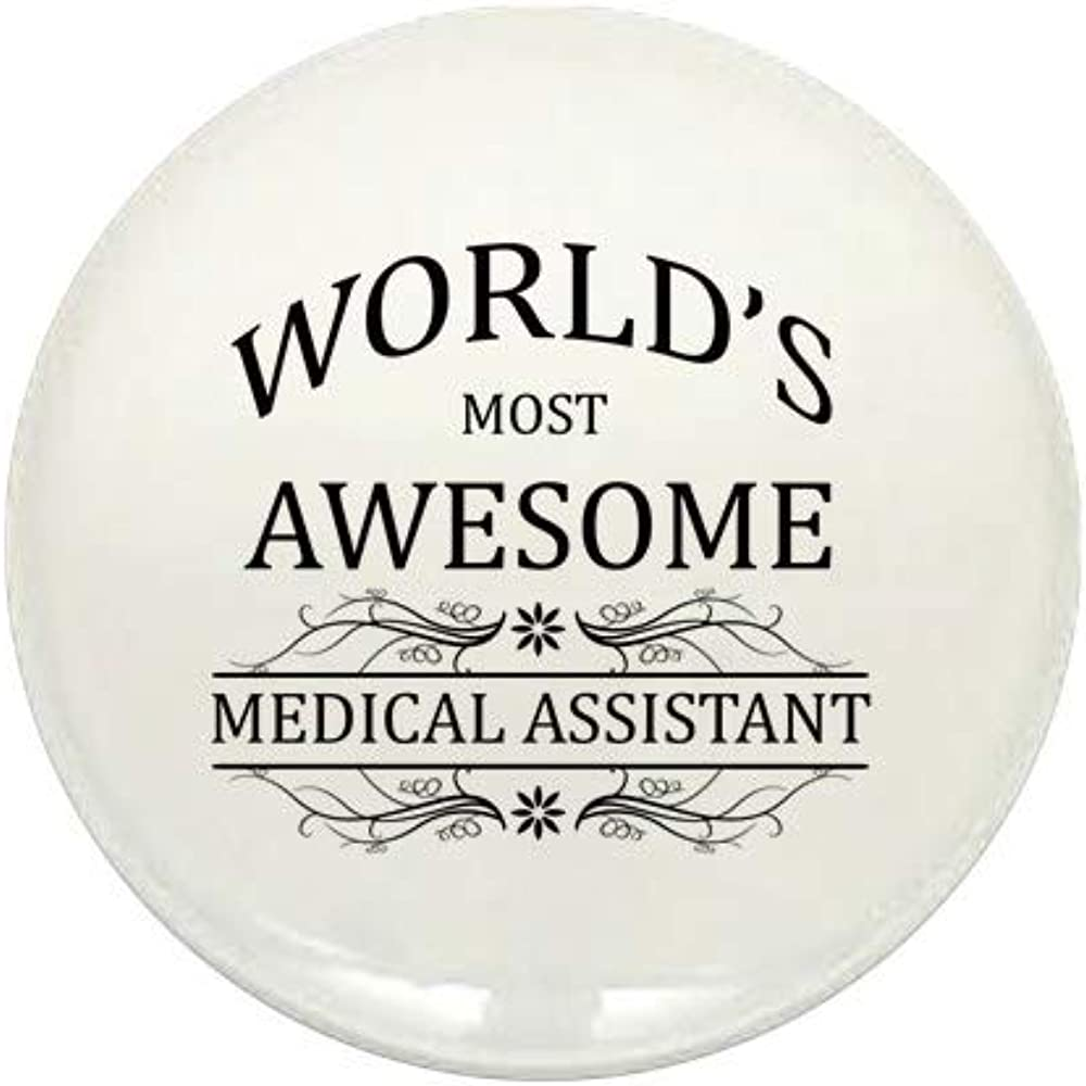 CafePress World's Most Awesome Medical Round Mini B Super Max 90% OFF sale Assistant 1