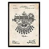 Nacnic Poster Macchina da Scrivere di Brevetto 4. Foil con Il Vecchio Brevetto di Disegno ...