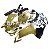BikeFairings外装部品セットアプリリアRS125 2006 2007 2008 2009 2010 2011 RS 125 06 07 08 09 10 11に適合するモーターサイクルフルフェアリングABSプラスチックインジェクションボディワーク-光沢のあるクリーム色の黒い下部